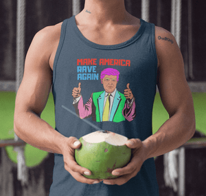 Make America Rave Again Tank Top navy