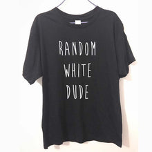 Random White Dude shirt black