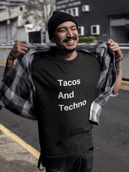 Tacos And Techno shirt black