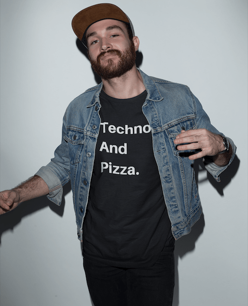 Techno And Pizza shirt black