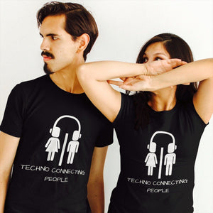 Techno Connecting People Shirt Black