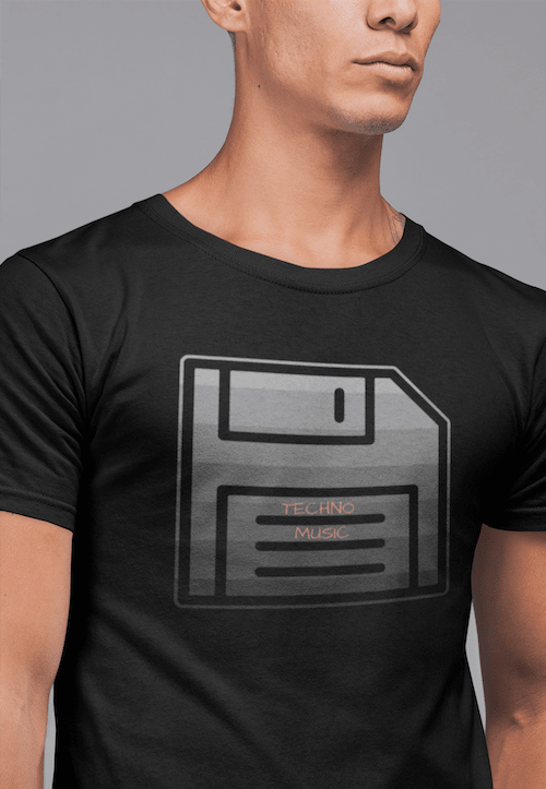 Techno Music Floppy Disk Tee