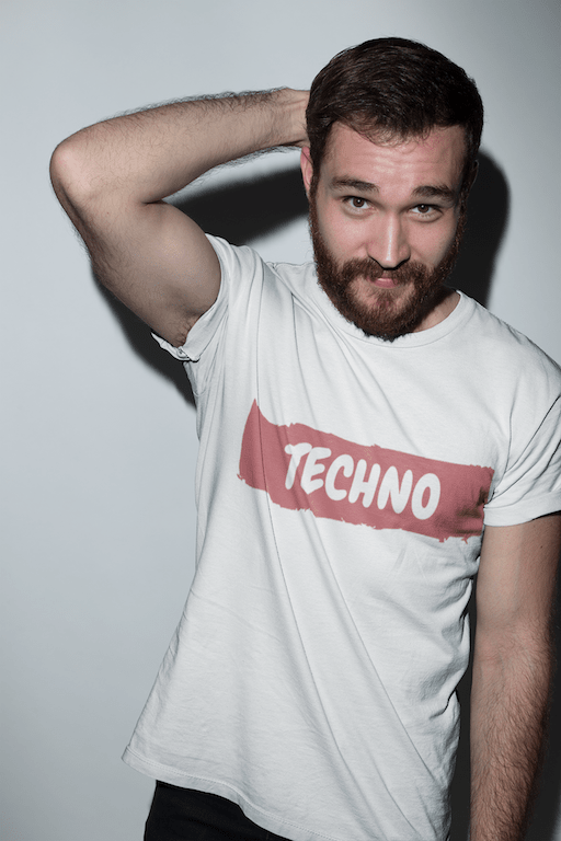 Techno Paint shirt white