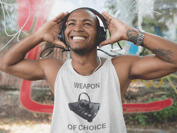 Weapon of Choice Tank Top white