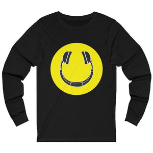 Smiling Headphones Long Sleeve black