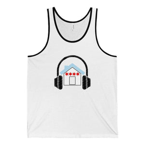 Chicago House Music Flag Tank Top white and black