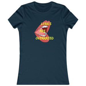 Lyrics Are Overrated Women's Shirt navy