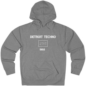 Detroit Techno 1988 Hoodie Light Grey