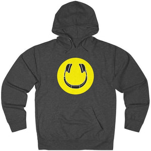 Smiling Headphones Hoodie dark grey