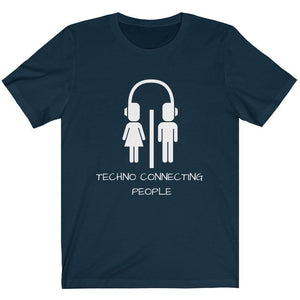 Techno Connecting People Shirt blue