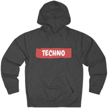 Techno Paint Hoodie dark grey