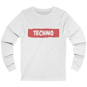 Techno Paint Long Sleeve white