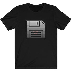 Techno Floppy Disk Shirt Black
