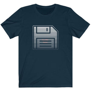 Techno Floppy Disk Shirt Navy