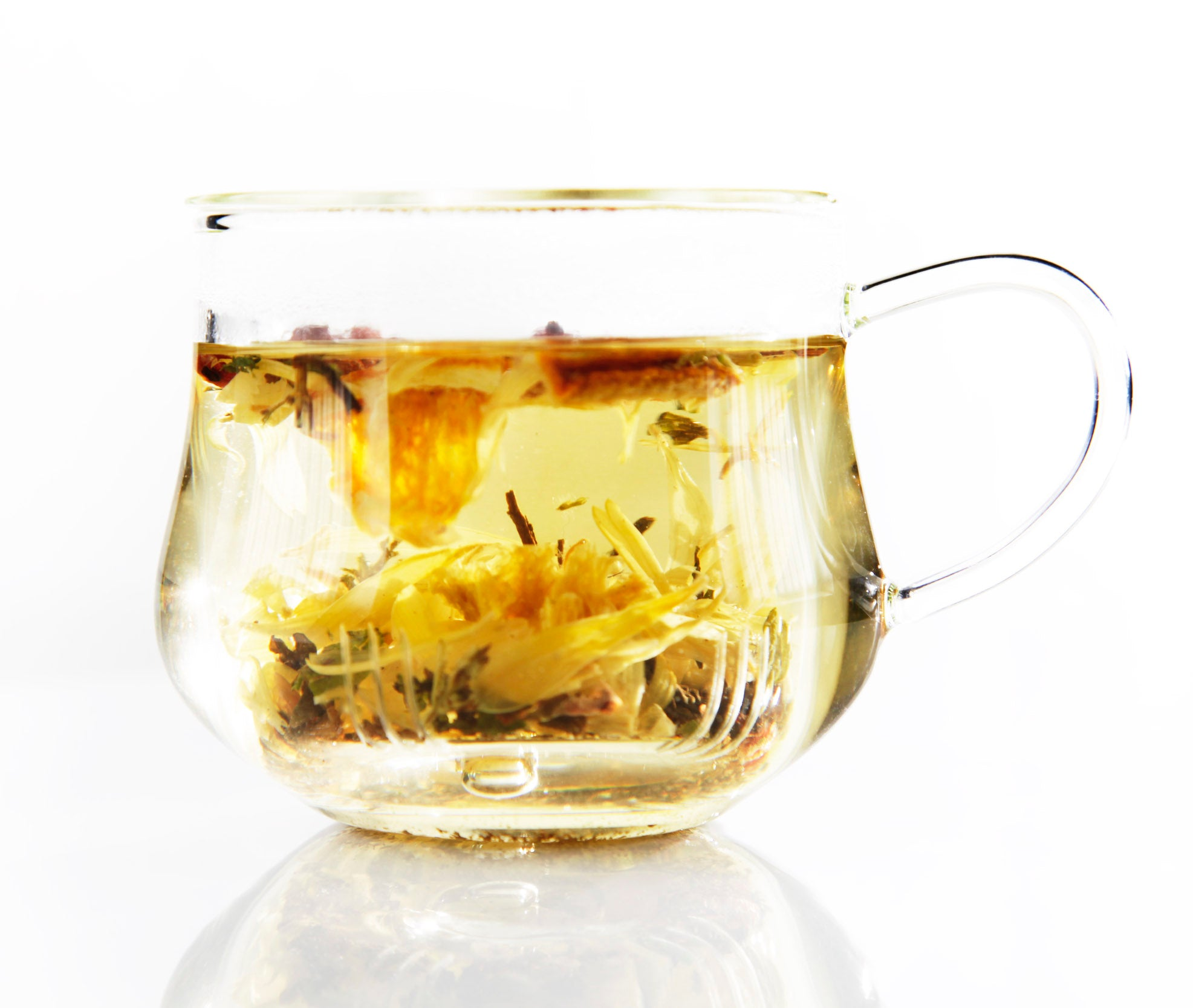 Tea emotea mindfulness Good Feeling  No 116 brewed in cup front