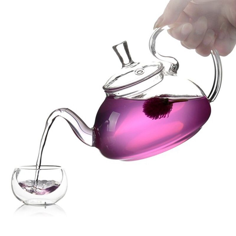 emotea mindfulness set glass teapot 600 ml with 2 cups and warmer base