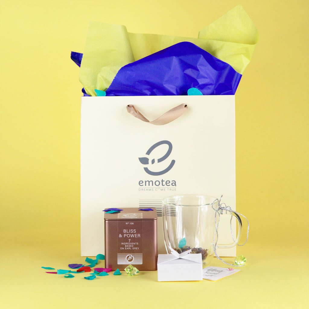 emotea mindfulness Gift Bliss&Power Gift set with double walled cup 350 ml