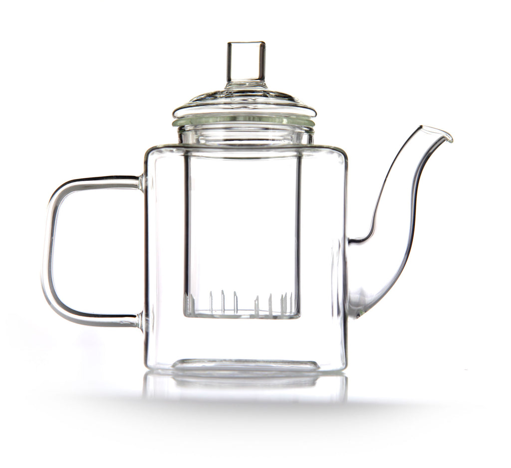 emotea mindfulness cubic glass teapot with filter 400ml