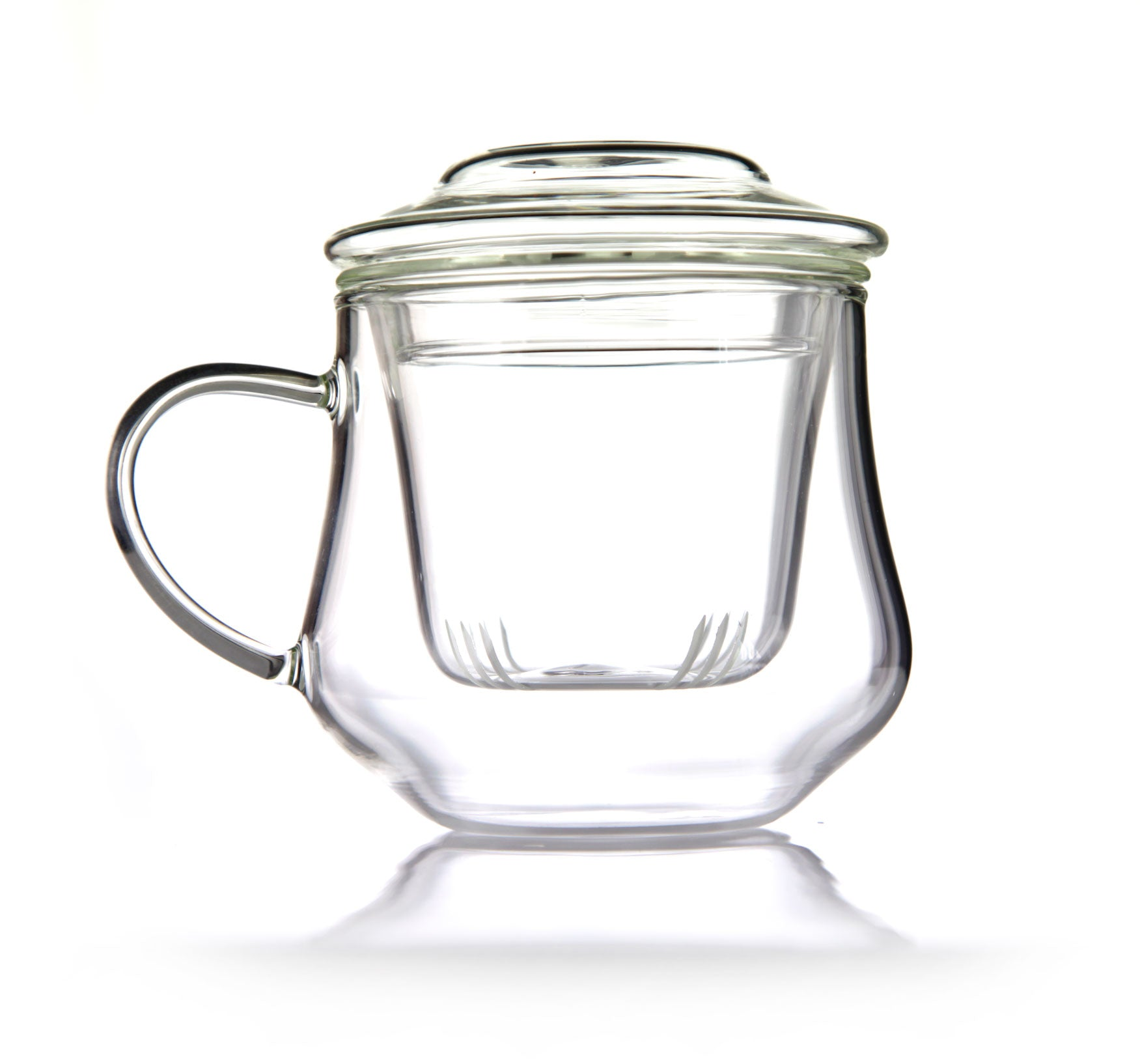 Glass cup for mindfulness emotea with lid and infuser 350 ml