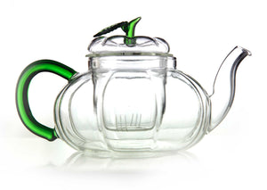 emotea green handle glass teapot 700 ml with infuser
