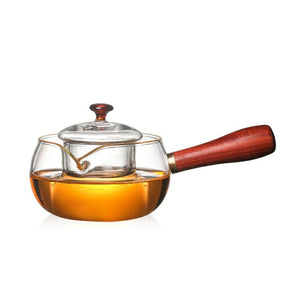 woody handle boiling emotea mindfulness teapot 300 ml
