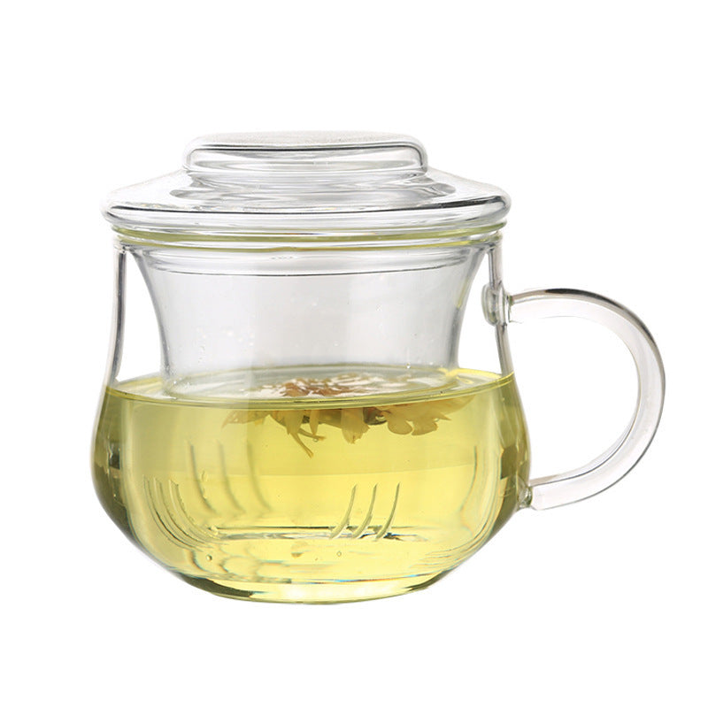 Glass cup with lid and infuser 350 ml for mindfilness emotea