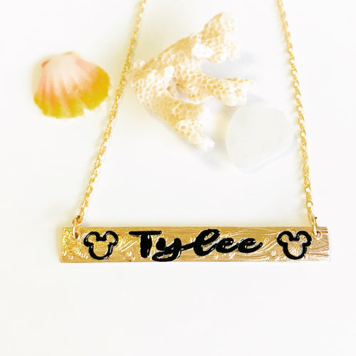 8mm M Mouse Necklace (10 letters only)