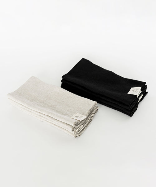 Linen Napkins - Set of 4 - Black