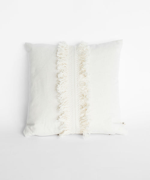 Pillow case - Cream Fringe
