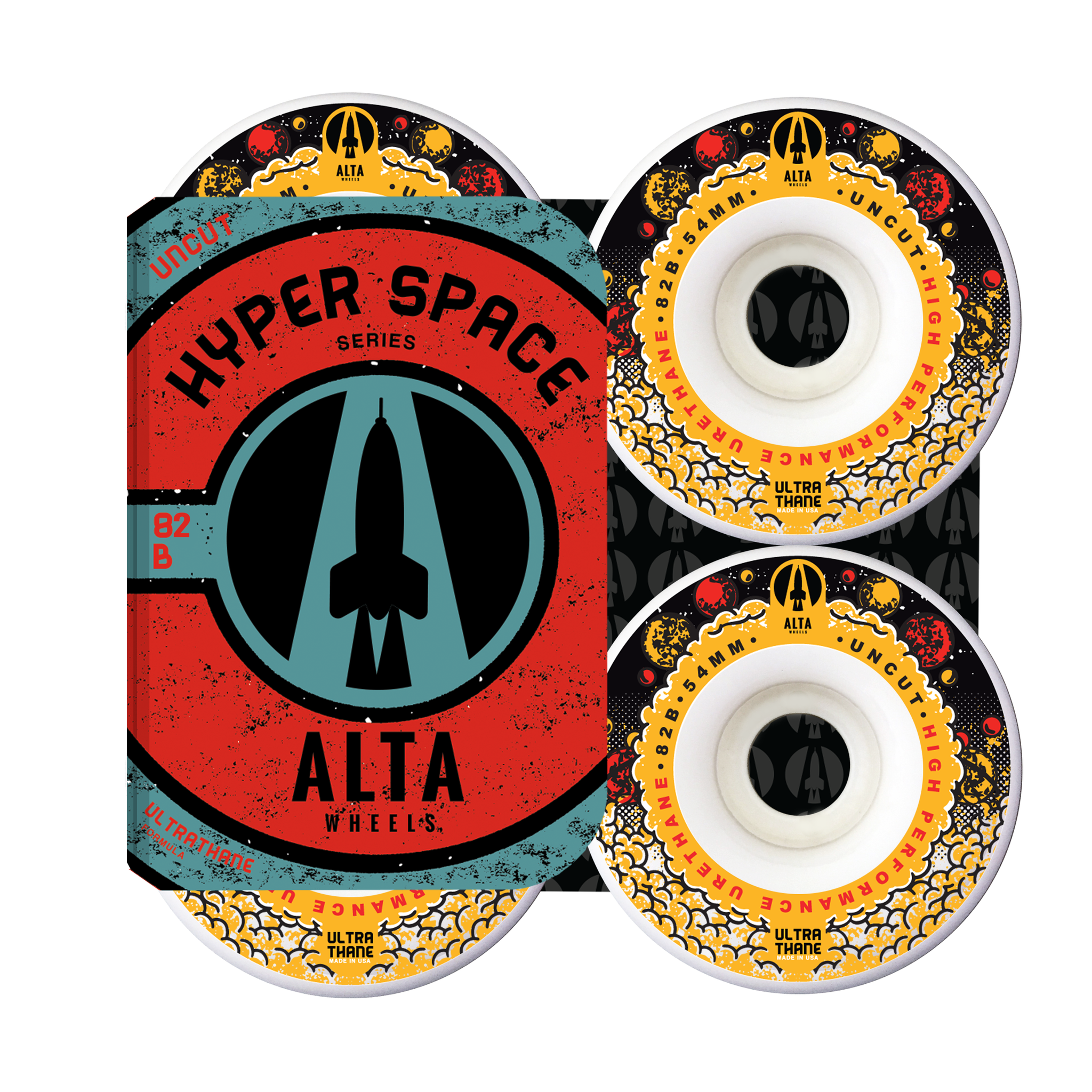 54mm Hyper Space Uncut 82B - Alta Wheels