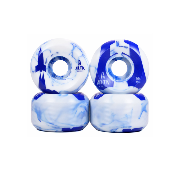 55mm Launch Series Blue Swirl 83B - Alta Wheels