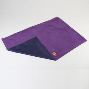 Ginger Ted Purple Cosy Fleece Reversible Dog Blanket. Fleece top side, waterproof base. Ideal for crates, cars and travelling