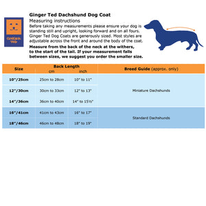 Shower Dachshund Waterproof Coat