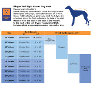Shower Greyhound Harness Waterproof Coat
