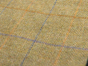 Green Herringbone 100% Wool Yorkshire Tweed Dog Coats by Ginger Ted