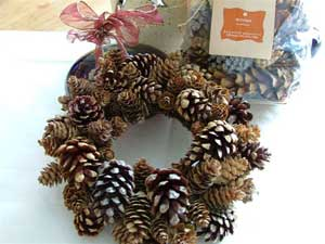Small Mixed Cone Wreath