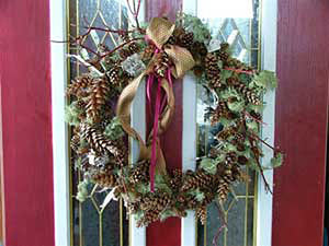 Pine Cone Twig & Moss Wreath