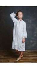 Load image into Gallery viewer, CAROLINE SKI BlUE LACE NIGHTGOWN