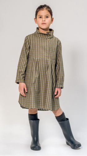 Open Collar Shirt Dress by Annice