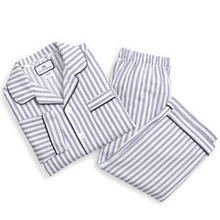 Load image into Gallery viewer, Navy French Ticking Pajama Set