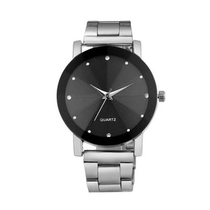 Steel Wrist Women Band Analog Men Line Quartz Watch Watches Dial Stainless