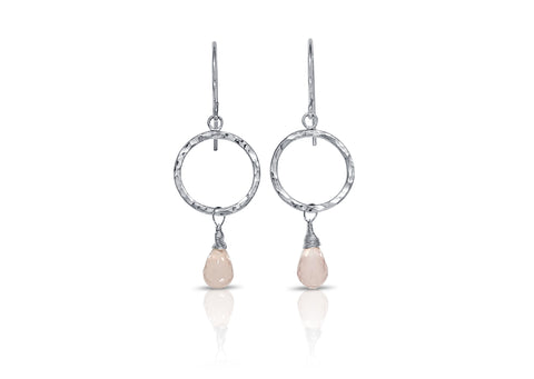 Rose Quartz Briolette Earrings