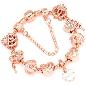 Luxury Rose Gold Crystal  Bracelet