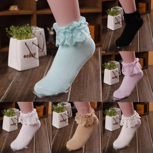 Princess Girl Sweet Socks Moka-Fashion
