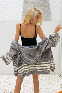 Hooded knitting sweater cardigan Btmfashion