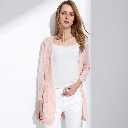 Summer Long Cardigan Btmfashion Pink One Size