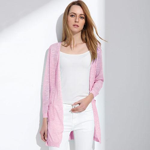 Summer Long Cardigan Btmfashion Rosy red One Size