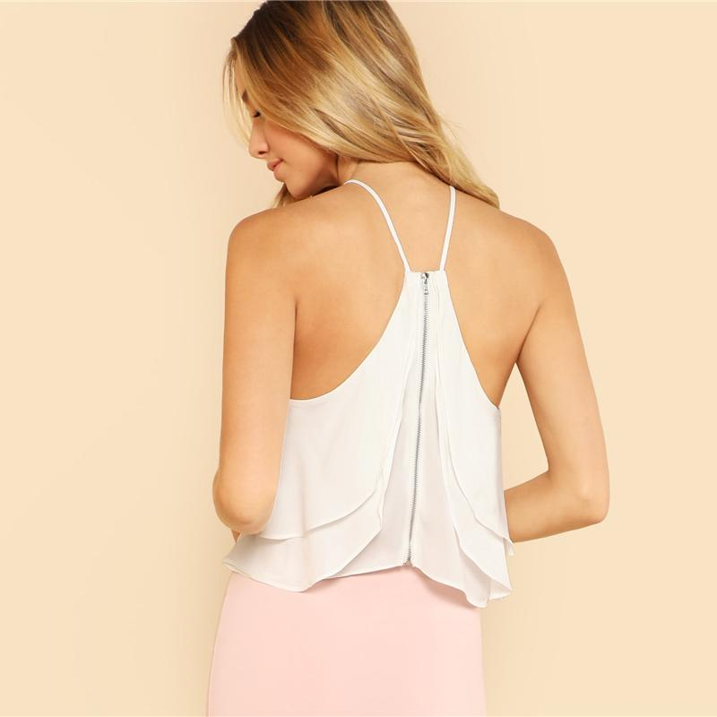 White Vacation Backless Crop Top Btmfashion