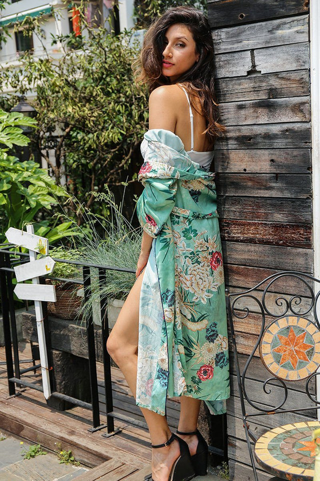 long kimono Women cardigan Btmfashion