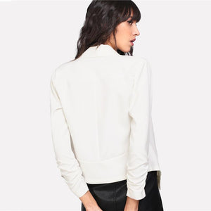 Shawl Collar Ladies Plain Blazer Btmfashion
